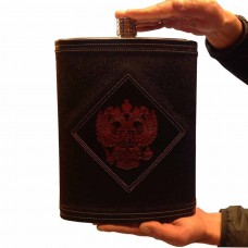 Фляга из нержавеющей стали подарочная - Герб РФ (4,1 литра / 138 унций, черная)