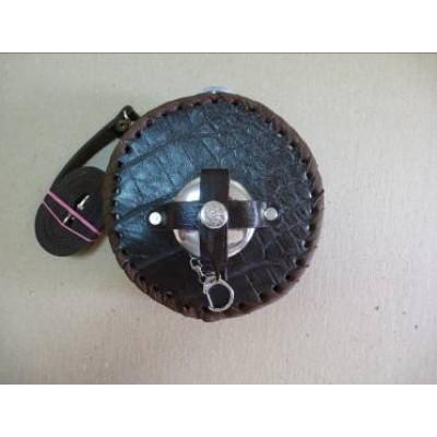 Фляга круглая в кожаном футляре (700 мл, к700ст)
