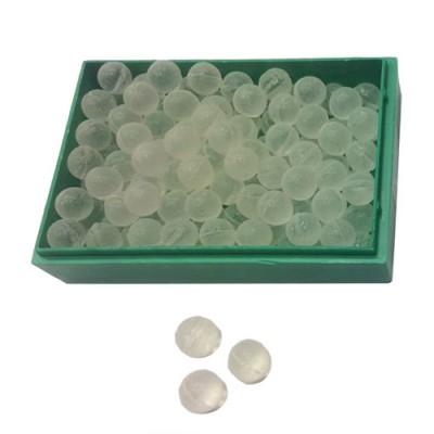 Шарики для рогатки стеклянные белые, диаметр 8 мм (100 штук)
