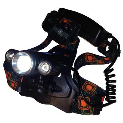 Налобный фонарь Поиск P-602, велосипендый