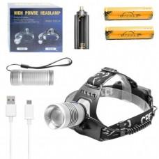 Налобный - ручной фонарь TS 18 2 в 1