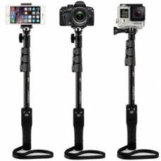 Монопод для селфи с блютуз кнопкой для iPhone, смартфона, фотоаппарата, gopro