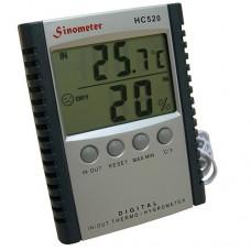 Домашняя метеостанция, термометр и гигрометр с выносным датчиком (температура, влажность) HC-520