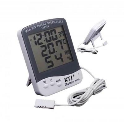Домашняя метеостанция TA218 - термометр, гигрометр, выносной датчик (температура, влажность, часы)