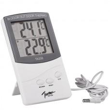 Домашняя метеостанция TA338, термометр и гигрометр с выносным датчиком (температура, влажность)