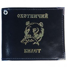 Обложка для охотничьего билета (чёрный глянцевый)