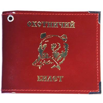 Обложка для охотничьего билета (красный глянцевый)