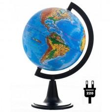 Глобус физический (диаметр 150 мм, подсветка)