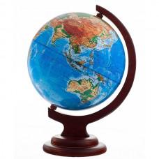 Глобус физический (диаметр 210 мм, деревяная подставка)