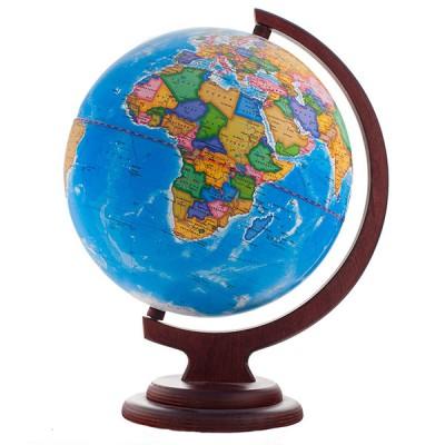 Глобус политический (диаметр 210 мм, деревянная подставка)