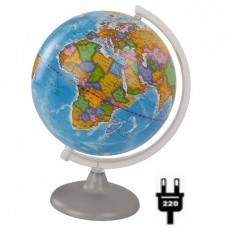Глобус политический (диаметр 210 мм, на дуге, подсветка)