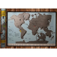 Стирательная скретч - карта мира