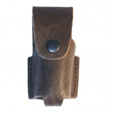 Чехол кобура для газового баллончика объема 25 мл, 50 мл и 65 мл (коричневый, 10,5х3,5 мм)