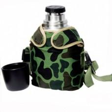 Термофляга туристическая в чехле и с компасом на 0,6 литра, Luotuo Верблюд (SVT-600)