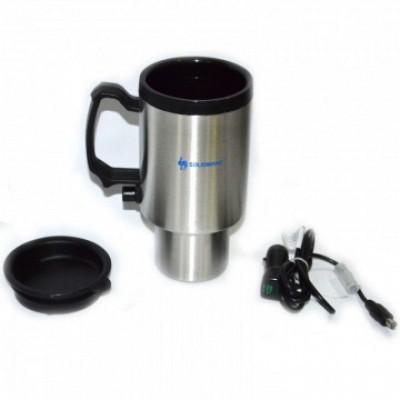 Термокружка в авто с подогревом от прикуривателя 12в на 0,48 литра, Luotuo Верблюд (PT-SSEC-480)