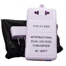 Адаптер - конвертер напряжения 110V - 220V и 220V - 110V, 60Вт для путешествий