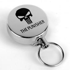 Брелок ретрактор с металлической нитью The Punisher (Каратель)