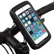 Универсальный защитный чехол - держатель с креплением на руль для телефонов размеров до 150x80x30 мм (Y002)