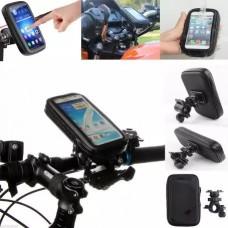 Универсальный защитный чехол - держатель с креплением на руль для телефонов размеров до 140x70x30 мм (Y003)
