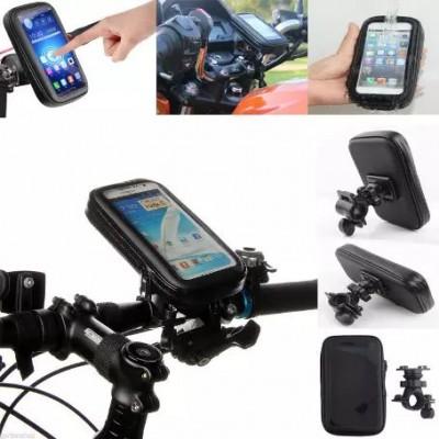 Универсальный защитный чехол - держатель с креплением на руль для телефонов размеров до 140x70x30 мм