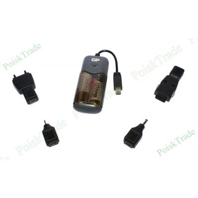 Мобильное  зарядное устройство от палчиковых батареек