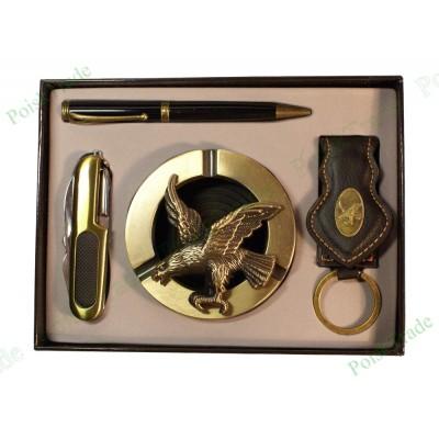 10. Подарочный набор Империал - Пепельница, ручка, брелок, швейцарский нож
