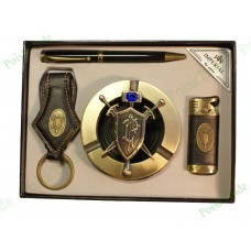 11. Подарочный набор Империал - Пепельница, ручка, зажигалка, брелок