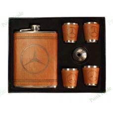12. Подарочный набор Мерседес - Фляга, воронка и 4 стакана