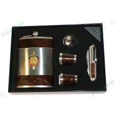 16. Подарочный набор Аладдин - Фляга, воронка, 2 стакана, швейцарский нож