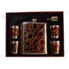 2. Подарочный набор - Фляга, воронка и 4 стакана