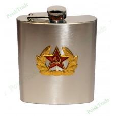 4. Подарочная фляга (199 мл) - Герб советской армии