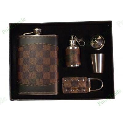 4. Подарочный набор - Фляга, воронка, стопка, брелок и минифляжка