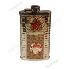 5. Подарочная фляга (170 мл) - Октябрьская революция, знамя СССР