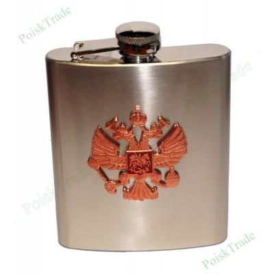 5. Подарочная фляга (199 мл) - Герб Российской Федерации