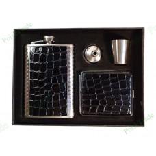 5. Подарочный набор - Фляга, портсигар, воронка и стопка