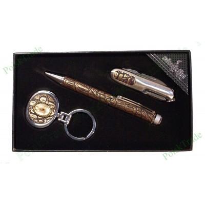 6. Подарочный набор Аладин - Ручка, швейцарский нож, брелок