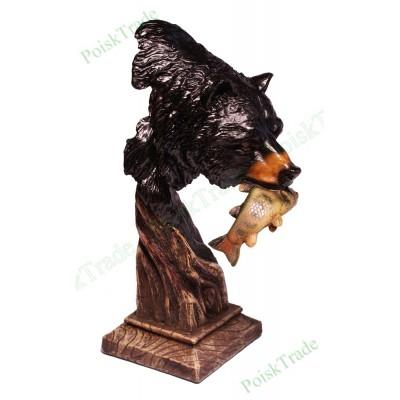 Керамическая статуэтка Медведь с добычей