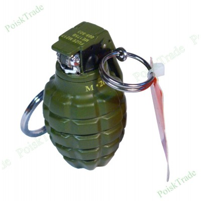 Зажигалка брелок - мини граната - 1