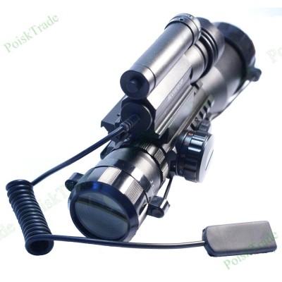 Оптический прицел RM-8 c лазерным целеуказателем и тактическим фонарем