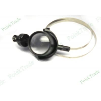 Лупа глазок налобная с мягким металлическим ободком на голову и подсветкой ЛПРЧ_15х30
