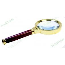 Лупа с ручкой 6Х70 подарочная (деревянная ручка)