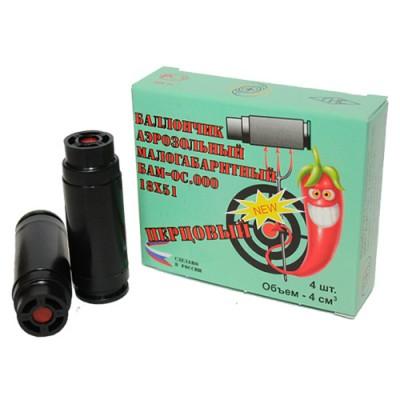 БАМ - ОС Перцовые 18х51 баллончики аэрозольные малогабаритные