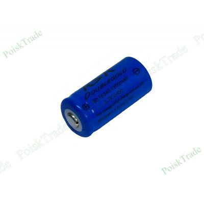 Перезаряжаемый литий-ионный аккумулятор KSK Doublegold sd  16340 (3.7В 1200 мАч), CR123A