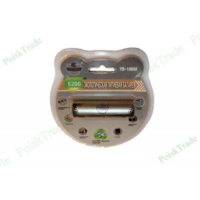 Перезаряжаемый литий-ионный аккумулятор Поиск 18650 (3.7В 5200 мАч)