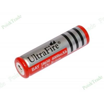 Перезаряжаемый литий-ионный аккумулятор UltraFire LC 18650 (3.7В 4000 мАч)