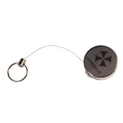 Брелок ретрактор с металлической нитью Umbrella Corporation (Resident Evil)