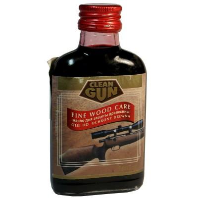 Масло для защиты древесины Clean Gun 100 мл, темная вишня