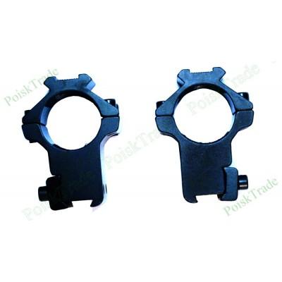 Комплект кронштейнов для крепления оптики на планку ласточкин хвост (диаметр 25мм)